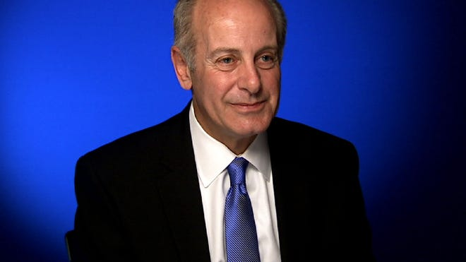 This April 28 image from video shows Joe Benincasa, president of The Actors Fund, during an interview in New York. Benincasa will receive an honorary Tony Award on Sunday citing his transformation of The Actors Fund over the past 25 years.