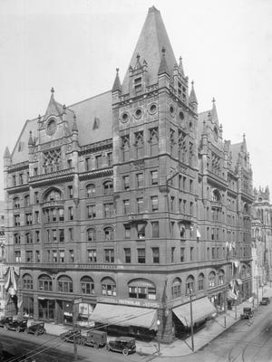 The Odd Fellows Temple, designed by Samuel Hannaford & Sons, stood at Seventh and Elm streets for 48 years before it was torn down in 1942.