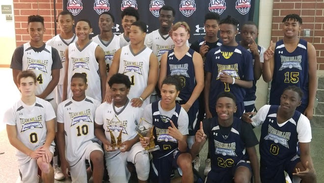 The eighth- and 10th-grade boys teams from Team Miller, based in the Somerset section of Franklin, recently won their divisions at the PTN Boys UA Premier Grassroots National Championship tournament conducted in Indianapolis.