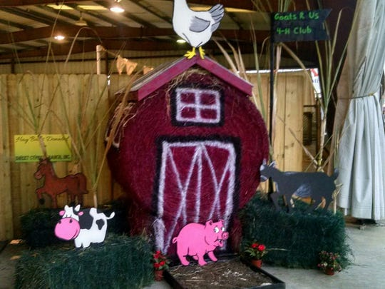 The Southwest Florida and Lee County Fair included a hay-bale decorating contest.