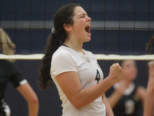 Sneads junior outside hitter Lacee Glover and the rest of her Pirates volleyball teammates celebrated a state championship on Friday, capturing their fifth consecutive Class 1A title.