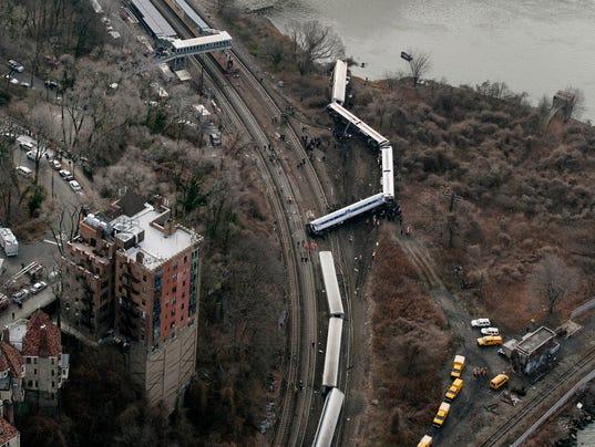 AP NYC Train Derailment Federal Report