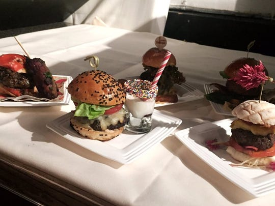Burgers at the Blended Burger Project dinner at the James Beard House Oct. 16.