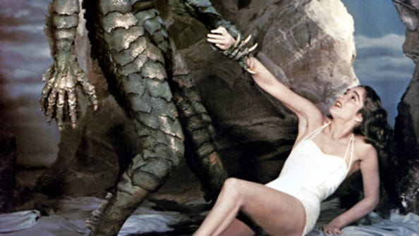 "Julie Adams, star of ""The Creature of the Black Lagoon,"""