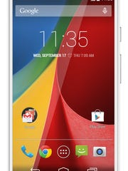 This product image provided by Google shows the Moto G smartphone.