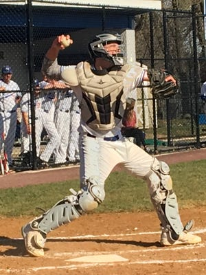 Millburn catcher Peter Serruto had an RBI single and threw out two batters behind the plate against Seton Hall Prep.