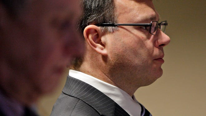 Jeffrey Dardinger at court proceedings in 2013
