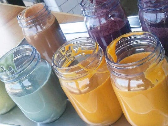 Smoothies at GreenSpace & Go are made mostly from vegetables