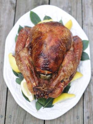 A Thanksgiving turkey prepared in the Detroit Free Press test kitchen Monday, Nov. 14, 2016. Regina H. Boone/Detroit Free Press