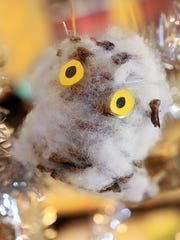 From the Amy Haneline collection: A little owl holiday ornament.