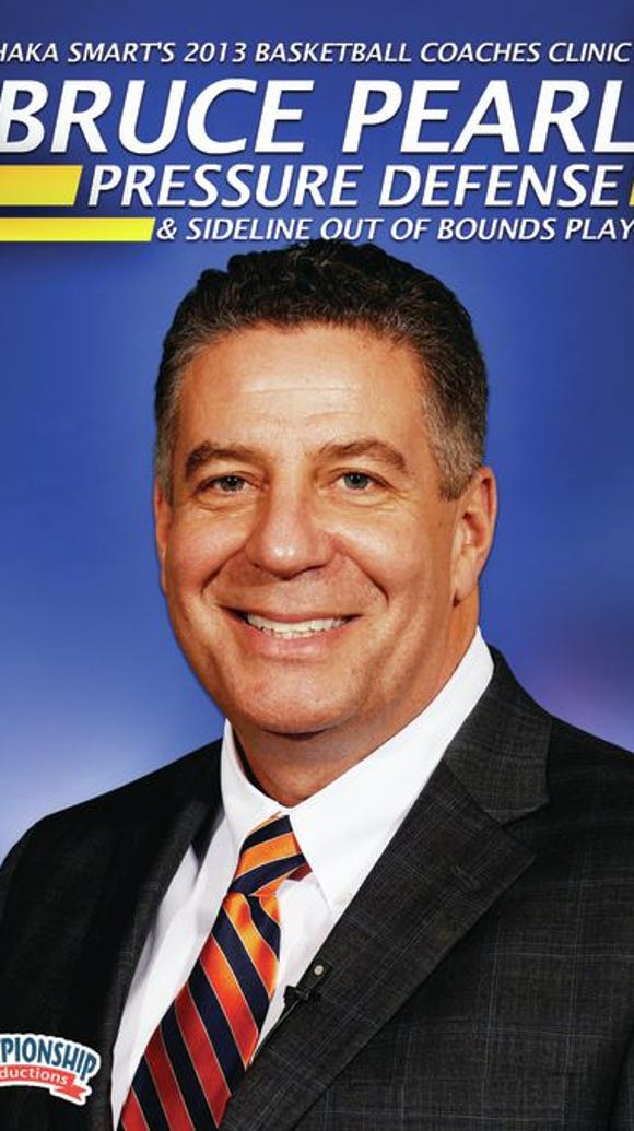 Auburn head coach Bruce Pearl used to be the cover