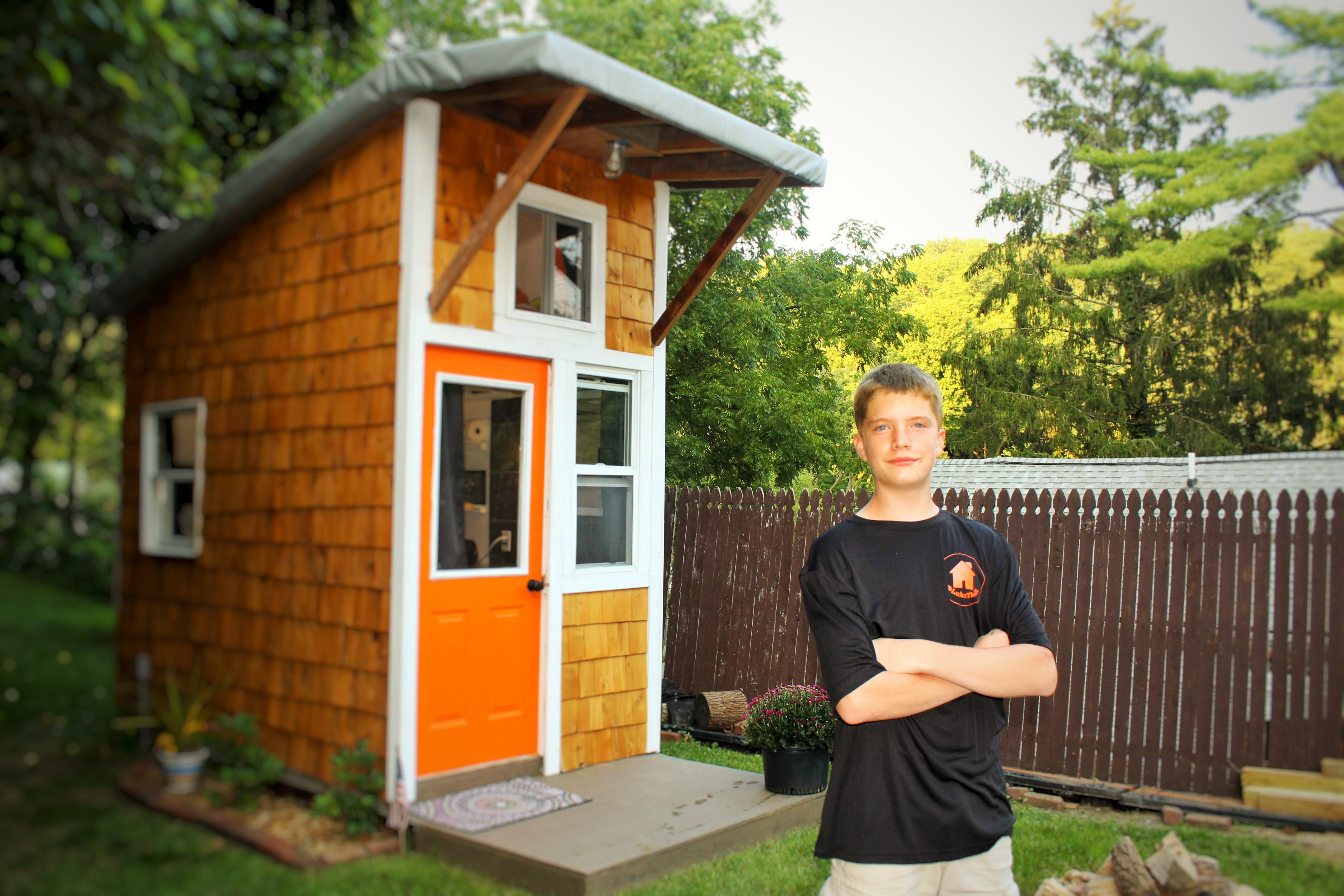 this 13 year old built his own tiny house for 1 500 and you can too rh usatoday com  how to build a tiny house in your backyard