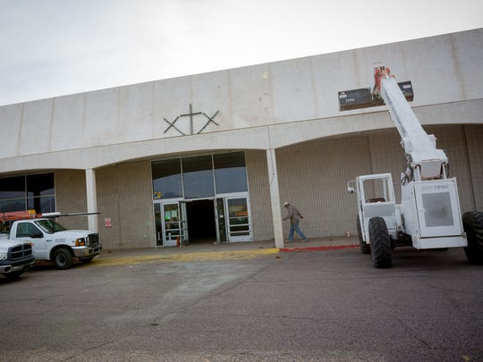 The exterior of a former Kmart in the process of being transformed into a church on March 3, 2016.