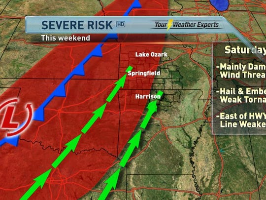 KOLR-10 forecast: Severe storms possible this evening