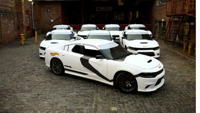 Hot Wheels disguised these Dodge Chargers as Star Wars storm troopers
