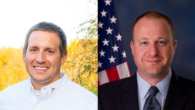 Nic Morse, left, hopes to unseat U.S. Rep. Jared Polis in the November election