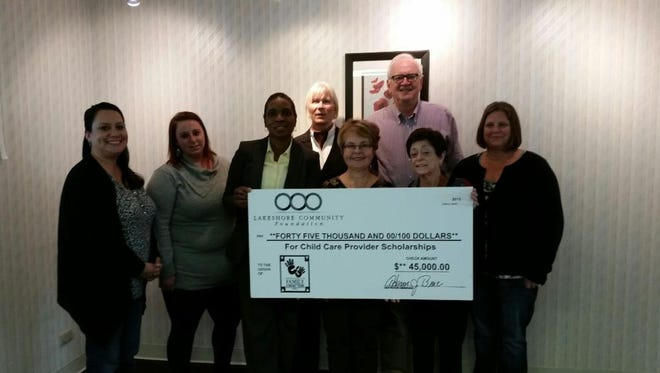 Family Connections has been awarded $45,000.00 from the John C. and Katherine B. Miller Charitable Fund of Lakeshore Community Foundation to be used for child care provider training scholarships.