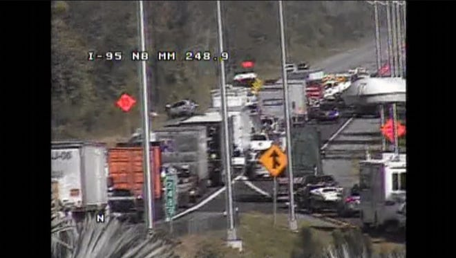 Traffic on northbound Interstate 95 was closed for several hours Thursday in Volusia County for a fatal crash.