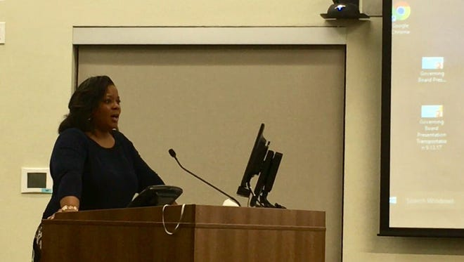Amber Hutchinson, whose child attends Santan Junior High School, spoke to Chandler Unified School District leaders at a school board meeting on Sept. 13. She's concerned that the school showed a movie about slavery and the Underground Railroad that uses an iteration of the 'N-word.'