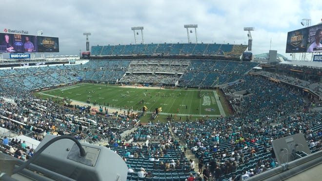 The stands at EverBank Field were very, very empty just before kickoff Sunday.