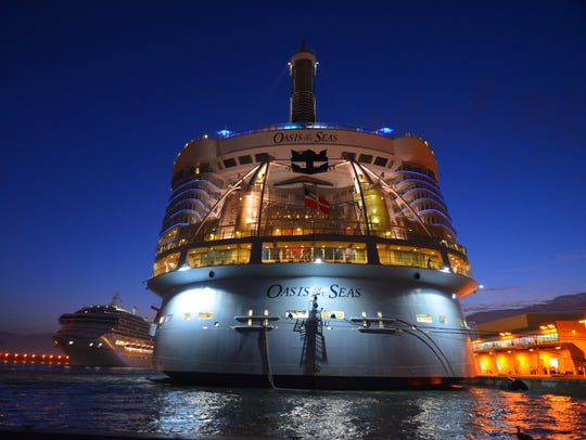 Royal Caribbean's Oasis of the Seas is scheduled to