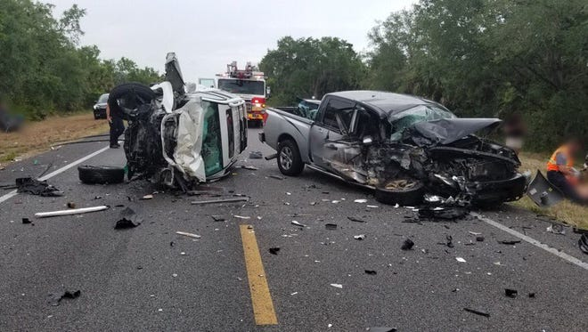 A multi-vehicle crash shut down lanes on Challenger Memorial Parkway.