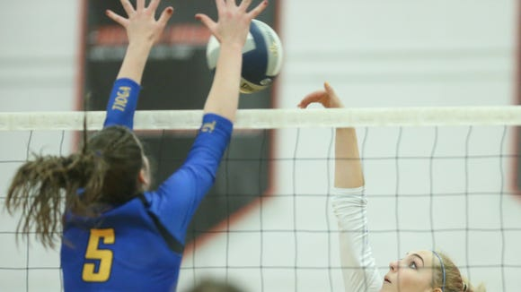 Haldane falls 3-0 to Tioga in the Class C volleyball