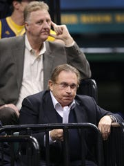 Pacers owner Herb Simon,front, and Pacers President