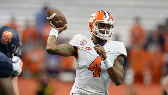 Clemson quarterback Deshaun Watson (4) and the Tigers host Wake Forest on Saturday.