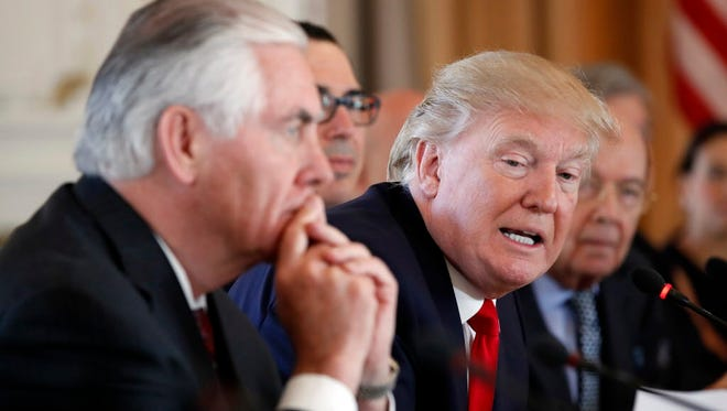 President Trump and Secretary of State Rex Tillerson.