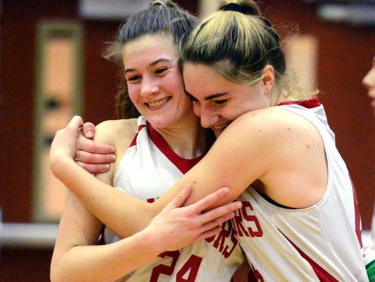 Twin Valley vs Susquehannock girls' semi-final District basketball