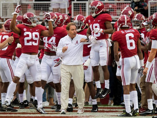 Nick Saban and Minkah Fitzpatrick (No. 29) developed