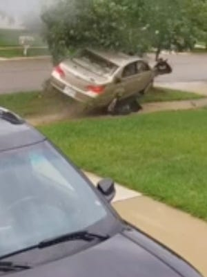 The Washtenaw County Sheriff's Office said the driver of a stolen vehicle crashed into a tree in Superior Township on July 12.