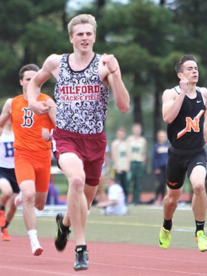 Milford junior Gunnar Gustafson is seeded in the top eight in the 800-meter run for the Division 1 finals this Saturday at East Kentwood.