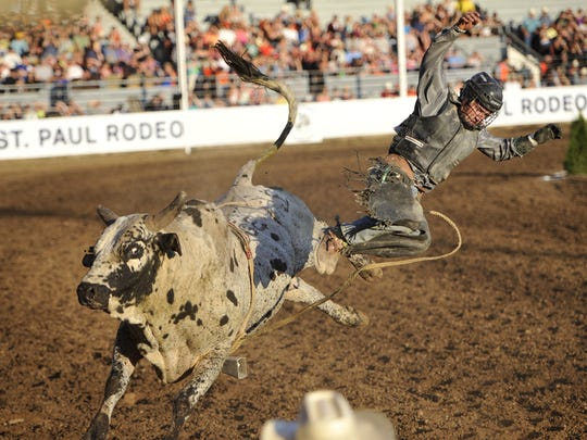 The Fourth of July Rodeo continues today through Saturday, July 5. at the St. Paul Rodeo Arena in Saint Paul.