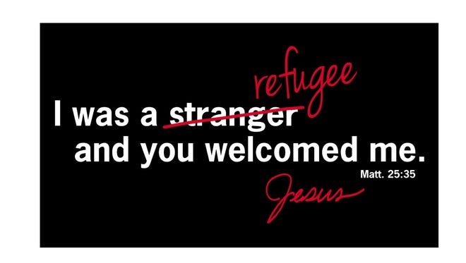 Ten Midwest communities of Catholic sisters have launched a public awareness campaign of billboards across the state and postcards urging politicians and citizens to welcome refugees to America.