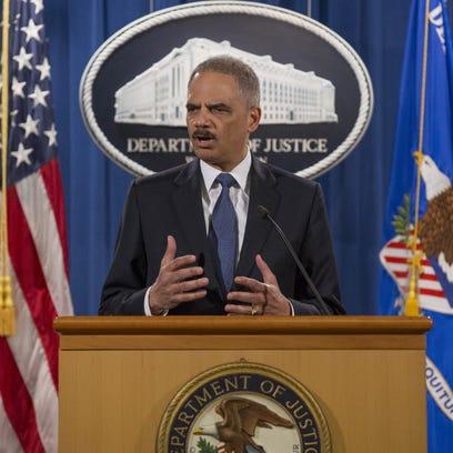 Attorney General Eric Holder on Wednesday.