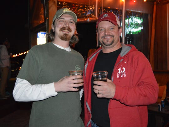 Chris Wright, head brewer from Crooked Hammock and Chad Campbell, co-owner and founder of 16 Mile Brewing Company