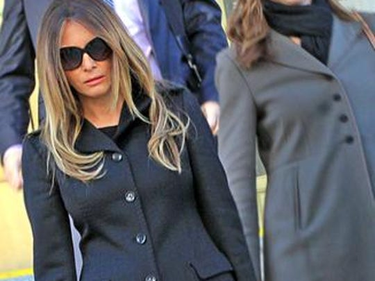 Supermodel and businesswoman Melania Trump leaving federal court in Indianapolis Nov. 14, 2013.