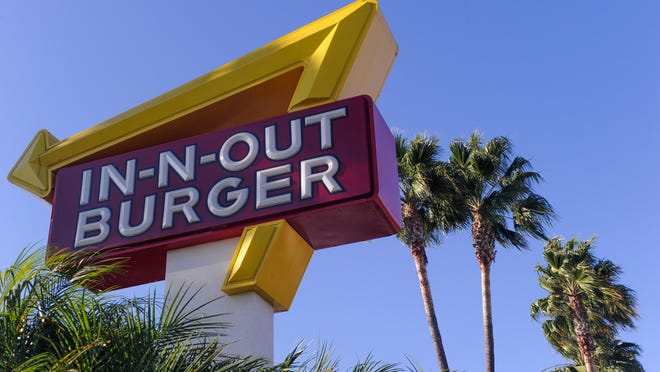 9/22/14 5:04:59 PM -- LOS ANGELES, CA: The In-N-Out Burger on Sepulveda Blvd and  Westchester Parkway. In-N-Out Burger was founded in founded in 1948 by Harry Snyder and his wife Esther in Baldwin Park, Calif. and as of 2013 had 290 locations. Originally just a Southern California regional restaurant chain, it has expended over the past several years to northern California and then Arizona, Nevada, Utah, and Texas. Photo by Robert Hanashiro, USA TODAY staff   -- File photos, (banks)business icons for the new Money projects in the works. --    ORG XMIT:  RH 131731 money file image 9/18/2014 [Via MerlinFTP Drop]