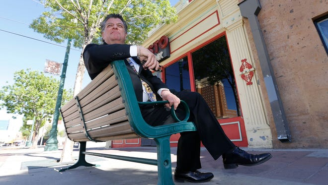 "William ""Billy"" Abraham sits in front of 212 W. Overland Ave., which he agreed to sell to the city of El Paso for $874,000."