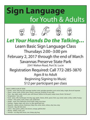 Sign language classes are being offered.