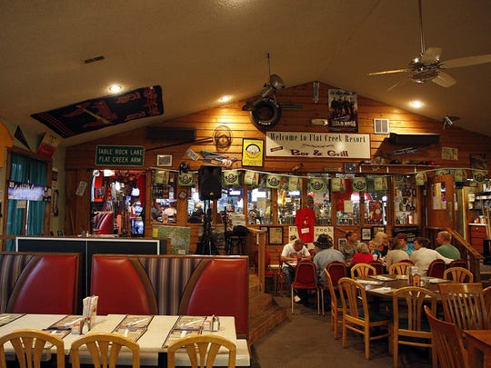 Flat Creek Resort Bar & Grill caters to families, floaters and especially fishermen.