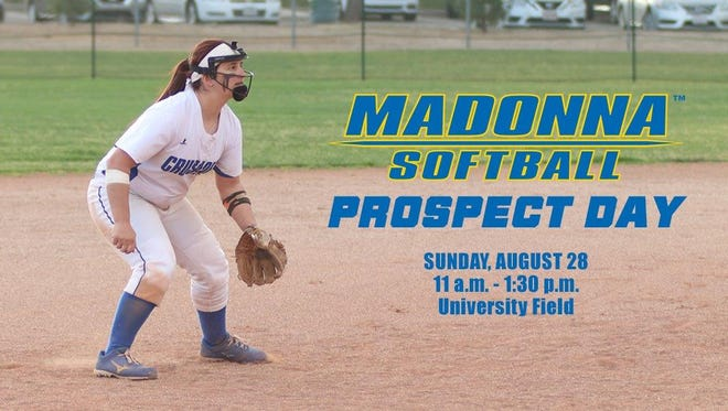 Nikki Salloum, an alum of Livonia Churchill, and other Madonna softball players will greet prospects on Aug. 28.
