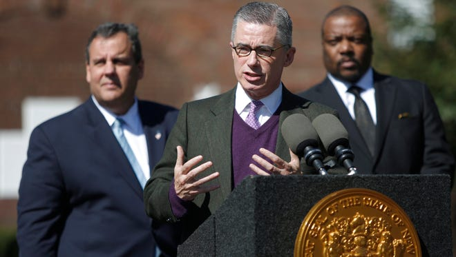 Former Gov. Jim McGreevey speaks in 2014 after Gov. Chris Christie announced the signing of Executive Order 163 to create the Facing Addiction Task Force, a 12-member team of leaders and experts from inside and outside of government to fight drug addiction through treatment and prevention.