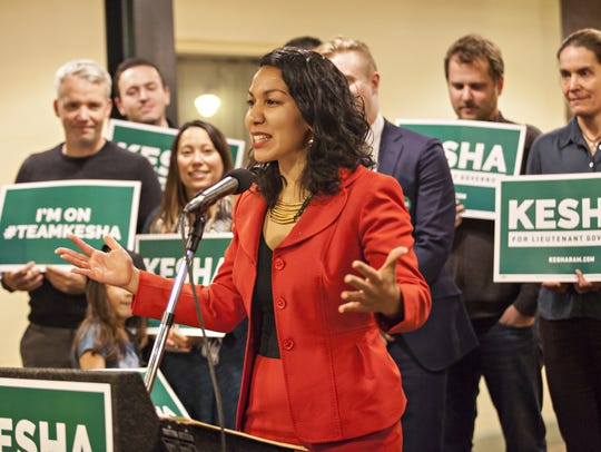 State Rep. Kesha Ram, D-Burlington, launches her campaign