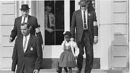 In 1960, Ruby Bridges became the first African-American child to attend an all-white elementary school in the South, entering William Frantz Elementary School in New Orleans.
