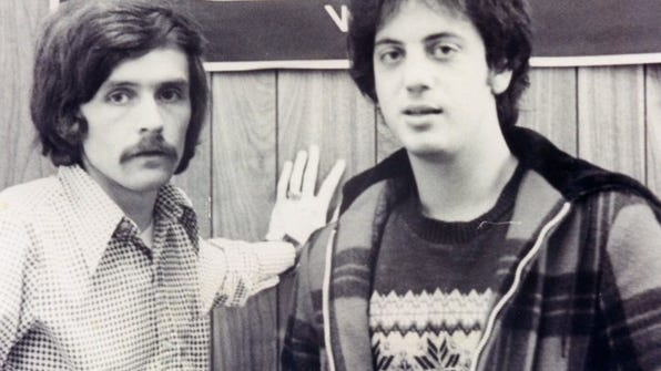 Billy Joel with FM 100 DJ Ron Michaels, before his Lafayette's appearance in '74. (submitted photograph)