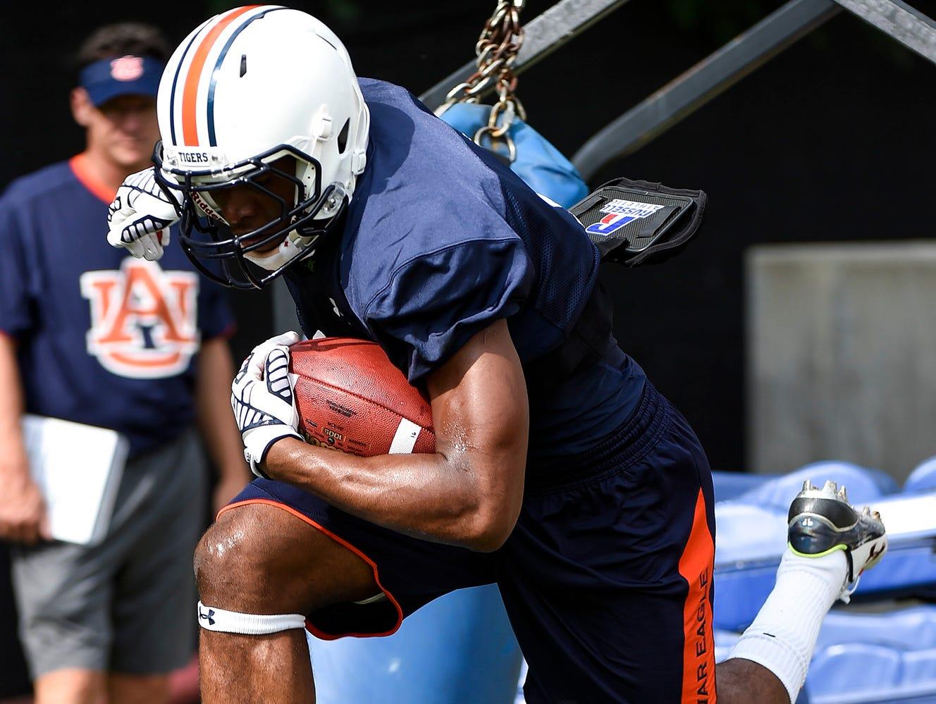 Roc Thomas (9) at Auburn Fall Practice on Thursday.