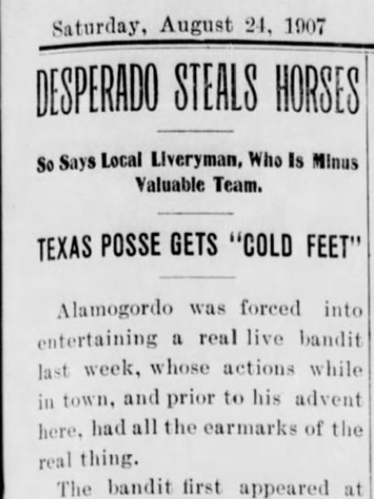 ALAMOGORDO DAILY NEWS AUG. 24, 1907
